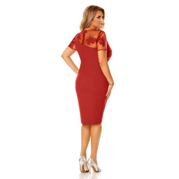 Rochie Plus Size Agata Bordo - Rochie de seara midi - TTBoutique