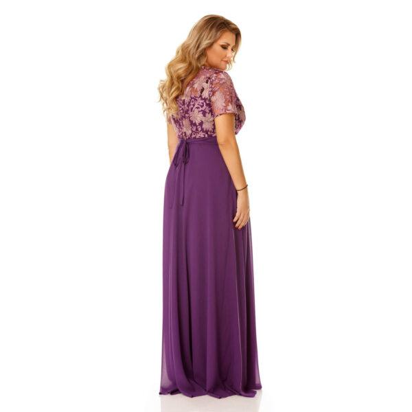 Rochie Plus Size Estela Mov - rochie de seara lunga_- TTBoutique