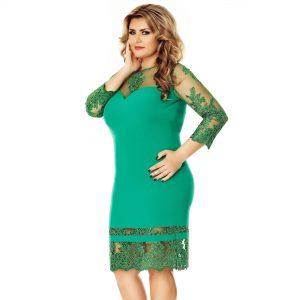 Rochie Plus Size Gratiela Verde - TTBoutique