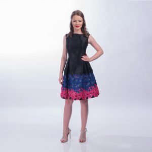 Rochie clos Neagra cu imprimeu floral