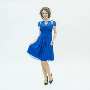Rochie din voal, clos, albastra