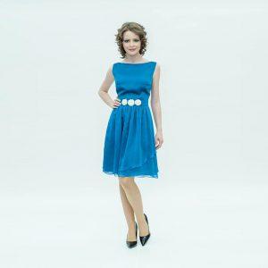 Rochie din voal albastra, clos