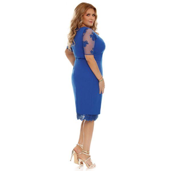 Rochie plus size Felicia albastra