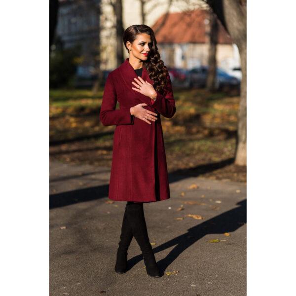 Palton elegant cu blana