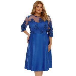 Rochie Plus Size Neli Albastra