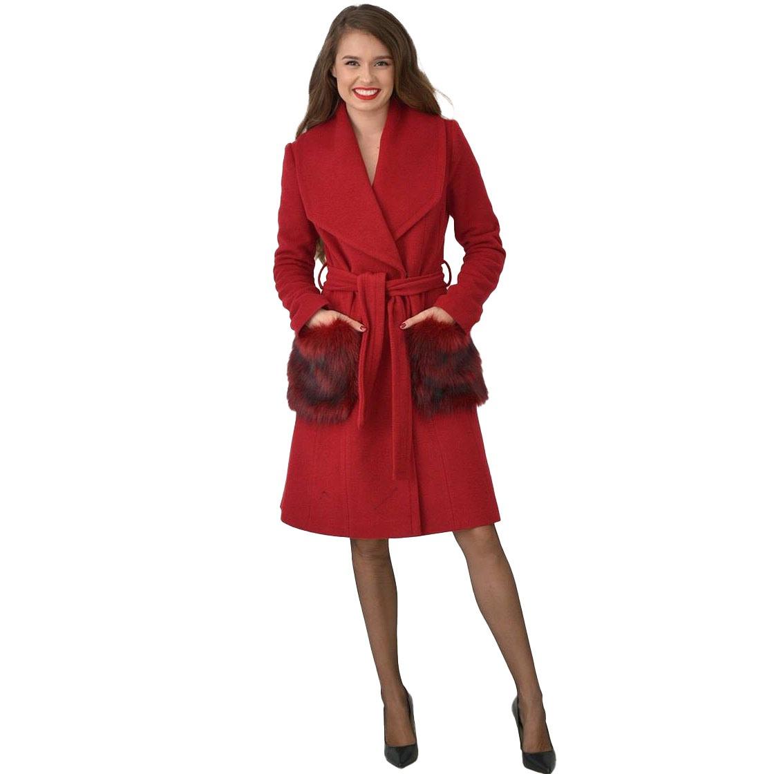 Palton cu buzunare imblanite